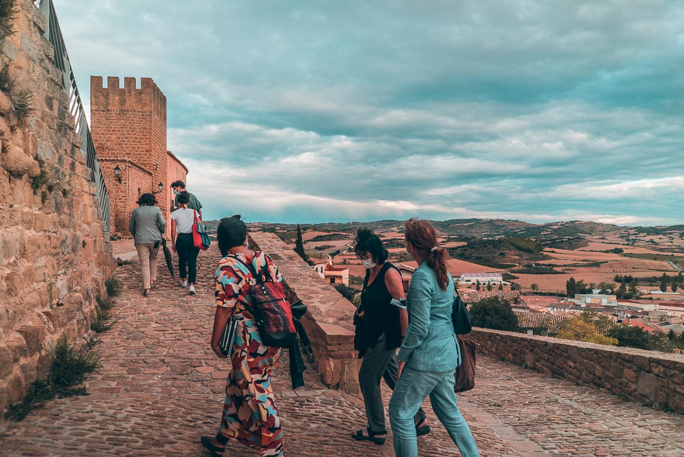 """Ruta """"Otras Miradas"""" durante el encuentro Urbanismo en tiempos de covid (Navarra, 2020)"""